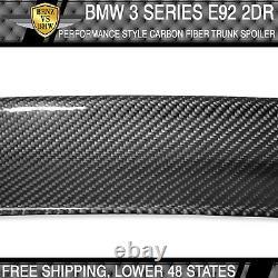 07-13 3 Series E92 2 Dr Coupe P Style High Kick Carbon Fiber CF Trunk Spoiler