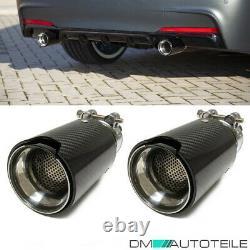 2x Sport-Performance Auspuffblenden Endrohre Carbon Glanz passt für BMW Modelle