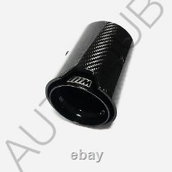 4 x BMW M2 M3 M4 Carbon Fibre M Performance MPE Exhaust Tips Gloss Black 70-93mm