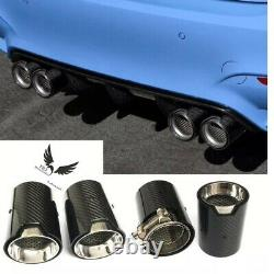4x BMW M2 M3 M4 M5 M6 X5M X6M Carbon Fibre M Performance Exhaust Tips MPE