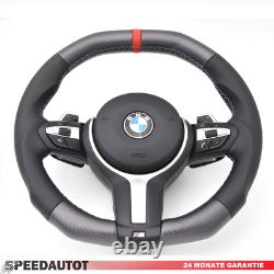 Abgeflacht Tuning Carbon Lenkrad BMW F31 F30 F33 X5 F15 X6 F16 SMG und airbag