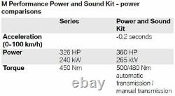 BMW 340i/440i M Performance Power & Sound Kit With Carbon Tailpipes 11122444531
