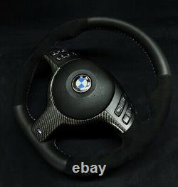 BMW E46 E39 E38 Custom Sport M Power Steering Wheel Carbon Alcantara Leather