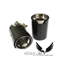 BMW M2 M3 M4 M5 M6 X5M X6M Carbon Fibre M Performance Exhaust Tips F80 F82 F10