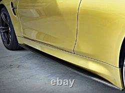 BMW M3 M4 M Performance Style Carbon Splitter Side Skirt Extensions F80 F82 F83