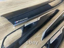 BMW X5 F15 M performance Interior Trim 8PCS CARBON FIBER ALKANTARA EDITION RHD
