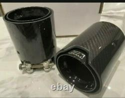 Black M performance Carbon Fiber Exhaust tip for BMW M135i, M140, M235i, M240i