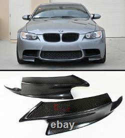 Blk Carbon Fiber Front Splitter Bumper Spoiler Lip For 07-13 Bmw E90 E92 E93 M3