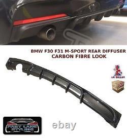 Bmw 3 Series F30 F31 M Sport Performance Rear Bumper Diffuser Carbon Fibre Look