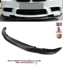 Bmw 5 Series F10 M5 Front Splitter Performance Lip Spoiler Carbon Fibre 12-15