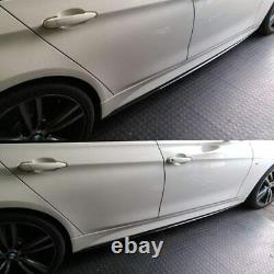 Bmw F30 F31 M Performance Style Side Skirt Extension Blade 2012-2019 Carbon Look