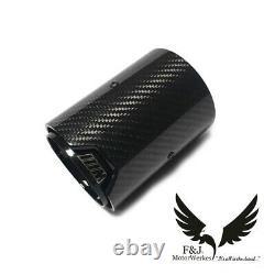 Bmw M Performance Carbon Fibre Exhaust Tips M2 M3 M4 M5 M6 Black F82 F80 F10 X4