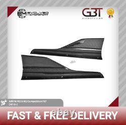 Bmw M2 Carbon Fibre M Performance Competition Side Skirt Extensions Pair