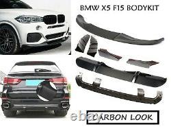 Bmw X5 F15 M Performance Carbon Fiber Look Body Kit Splitter Spoiler Diffuser