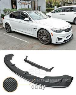 CARBON FIBER Front Lip For 15-Up BMW F80 M3 F82 F83 M4 Bumper Lower Splitter