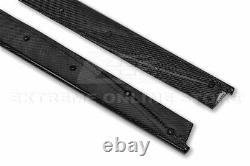 CARBON FIBER Side Skirts For 14-18 BMW M3 F80 Performance Style Panel Extension