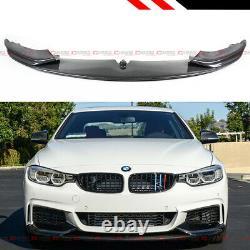 Carbon Fiber Performance Style Bumper Lip Splitter For 14-19 BMW F32 F36 M Sport
