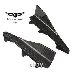 Carbon Fiber Side Skirt Winglets M-performance Style For Bmw M2 F87 2016-2018
