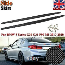 Carbon Fibre M Performance Side Skirt Extensions for BMW 5 Series G30 G31 F90 M5