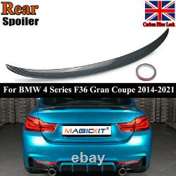 Carbon Style Rear Spoiler For Bmw F36 4 Series Boot Gran Coupe M Performance Lip