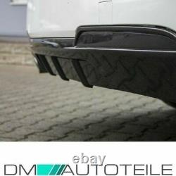 Diffusor Sport-Performance CARBON GLANZ 2 Rohr passt für BMW F10 F11 M-Paket+ABE