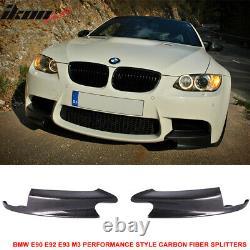 Fits 08-13 BMW E90 E92 E93 M3 Performance Style Front Lip Splitters Carbon Fiber