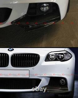 For 11-16 BMW F10 5 Series 535i 528i Carbon Fiber M Sport Front Bumper Splitters