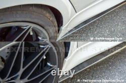 For 14-18 BMW F80 M3 M-Performance Extended CARBON FIBER Side Skirts Extension