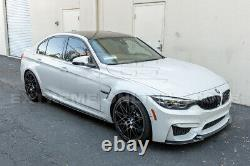 For 14-18 BMW F80 M3 Performance Style CARBON FIBER Side Skirts Panel Extension