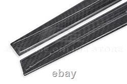 For 14-20 BMW F32 F33 F36 4-Series M-Sport CARBON FIBER Side Skirts Extension