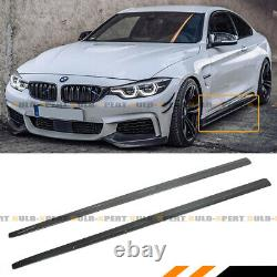 For 14-2020 BMW F32 F33 F36 4 Series Carbon Fiber Side Skirt Extension Splitter