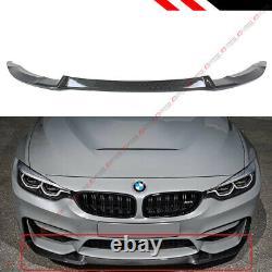 For 15-19 BMW F80 M3 F82 F83 M4 Carbon Fiber CS Style Front Bumper Lip Splitter