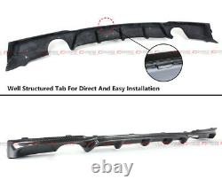 For 2012-18 Bmw F30 Carbon Fiber Mp Style Dual Exhaust Tips Rear Bumper Diffuser