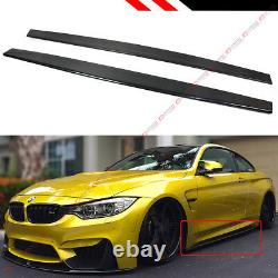 For 2015-19 BMW M4 & F80 M3 Carbon Fiber Performance Style Side Skirt Extension