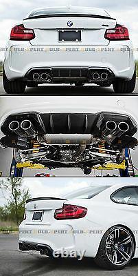 For 2016-2019 Bmw F87 M2 Performance Style Carbon Fiber Rear Lip Bumper Diffuser