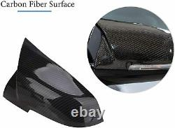 For BMW M2 F87 Carbon Fiber M Performance Wing Mirror Covers Caps Pair OEM-Fit