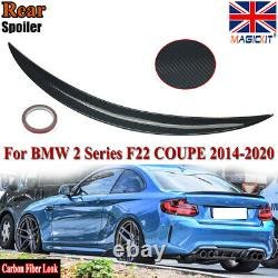 For Bmw 2 Series F22 Coupe M Performance Carbon Look Rear Trunk Boot Lip Spoiler