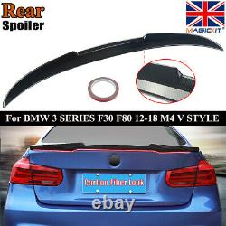 For Bmw 3 Series F30 M4 Style Performance Trunk Boot Spoiler Carbon Fiber Look