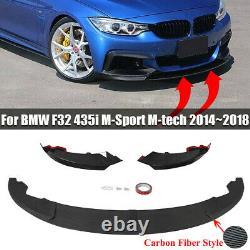 For Bmw 4 Series M Sport F32 F33 F36 Performance Front Splitter Lip Carbon Look