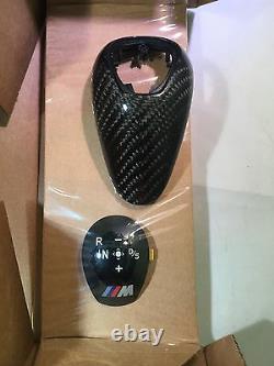 Genuine Bmw M Performance Gloss Carbon Trim Dct Gear Stick Knob M2 M3 M4 M5 M6