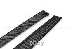 M-Sport CARBON FIBER Side Skirts Panel Extensions For 12-18 BMW F30 F31 3-Series