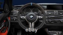 New Genuine BMW M Performance Carbon Alcantara Steering Wheel M3 M4 32302344147