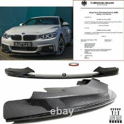 PEFORMANCE Front Spoiler Splitter Carbon High Gloss fits on BMW F32 F33 F36 M