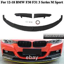 Sport-Performance Front Spoiler Splitter Carbon Style For BMW F30 F31 M-Sport