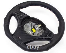 TUNING X3 E83 X5 E53 Lederlenkrad BMW X5 UNTEN ABGEFLACHT BLENDE multi CARBON