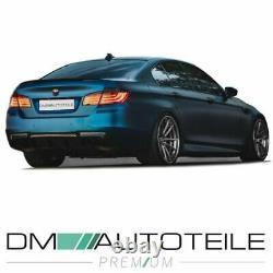 Umbau Diffusor Carbon hochglanz 4-Rohr passt für BMW F10 F11 M-Paket Performance