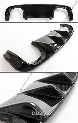 V Carbon Fiber Rear Bumper Diffuser+ Performance Trunk Spoiler For Bmw E92 M3